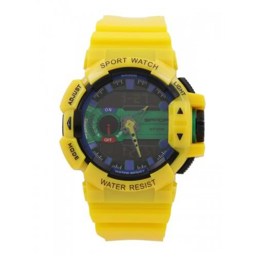 0d60dbc7d6f6a4 ... SANDA Men Yellow Multifunction Analogue and Digital Watch S599YLBK ...