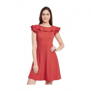 Miss Chase Women's Skater Red Dress