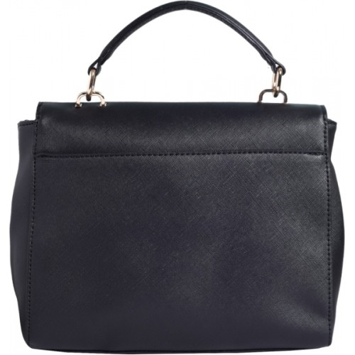 Lino Perros Navy Blue Artificial Leather Shoulder Bag