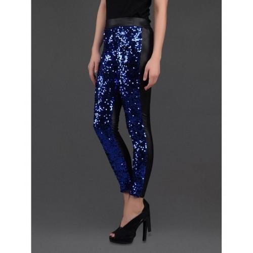 448c05d1e1b Buy N-Gal NG79369 Blue Black Sequin Front PU Leggings online ...