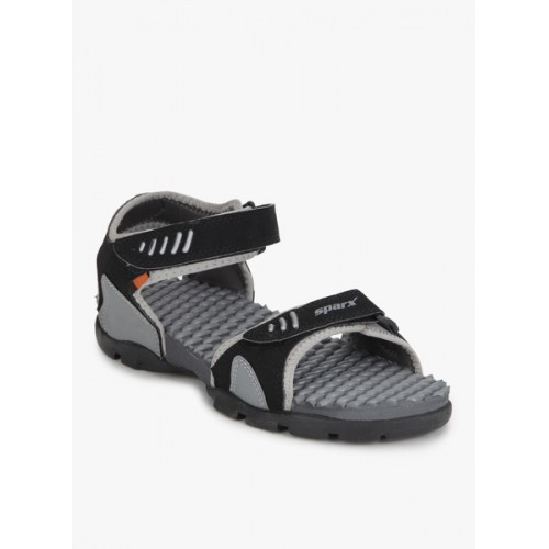 f88bc56fb06ba Buy Sparx Men s Black n Grey Sandals and Floaters online