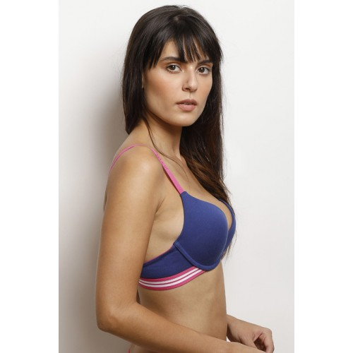 5b41c426f9 Buy Zivame Blue Sporty Twist Explosive Lift Push Up Bra online ...