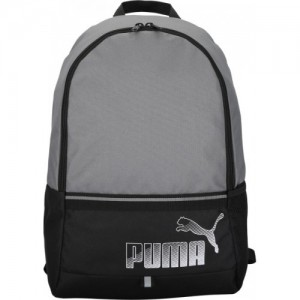 Puma Phase II Gray & Black 23 L Laptop Backpack