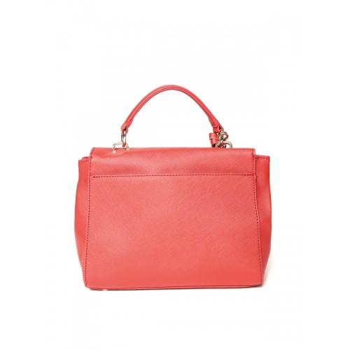 Lino Perros Red Artificial Leather Shoulder Bag