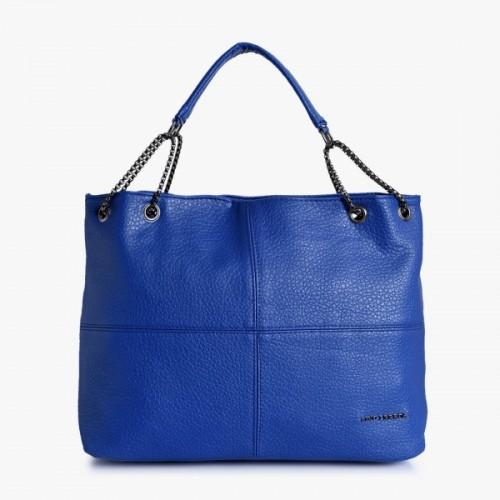 Lino Perros Blue Leather Shoulder Bag