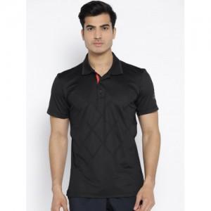 Adidas Men Black Barricade Polo Solid Tennis T-shirt