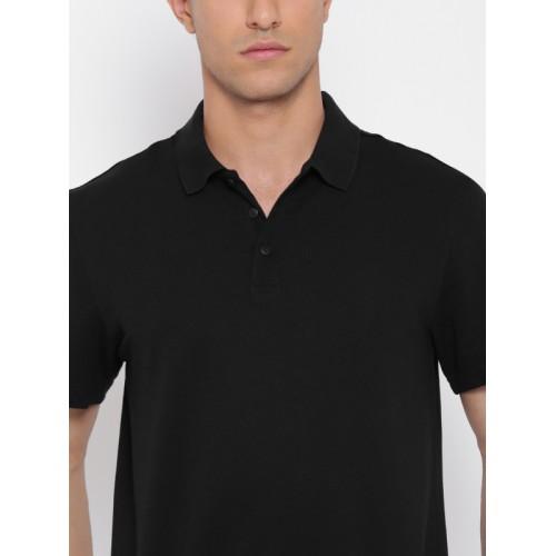 6518c28f9 Buy Adidas Men Black Essentials Base Solid Polo Collar T-shirt ...
