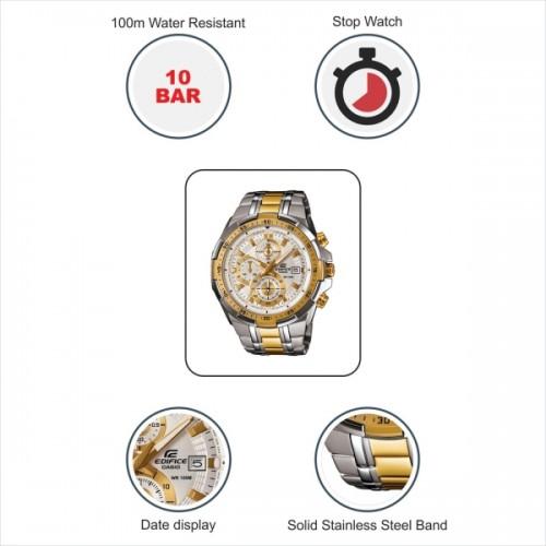 Casio EX189 Gold & Silver Stainless Steel Strap Watch