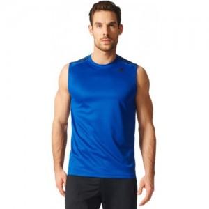 Adidas Light Blue Solid Men's Round Neck T-Shirt