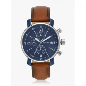 Fossil Brown & Blue Chronograph Watch