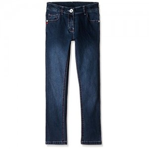 Cherokee Blue Cotton Solid Girls' Jeans