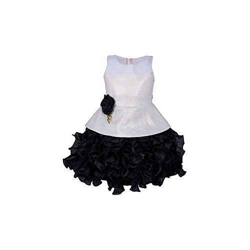 My Lil Princess Satin A-line Birthday Party wear Frock