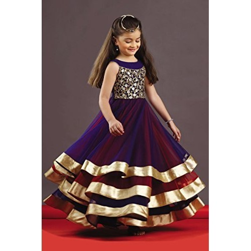 Wommaniya Impex Girls Maxi Length Party Dress