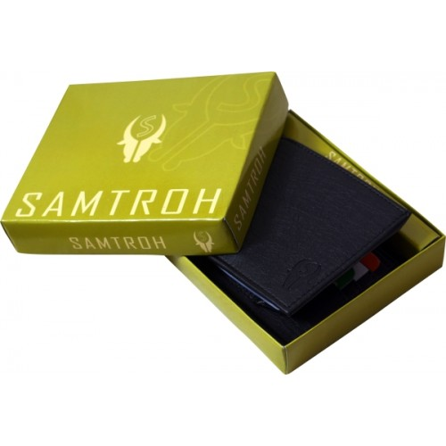 samtroh Black Artificial Leather Wallet