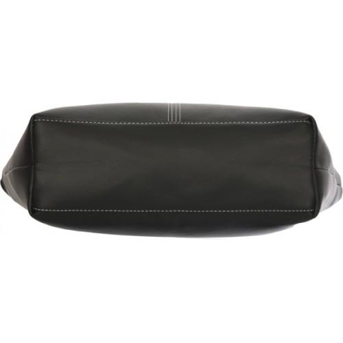 Fantosy Black Genuine Leather Shoulder Bag Combo