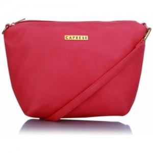 Caprese Women Pink PU Sling Bag
