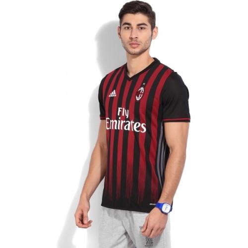 Adidas Striped Mens Round Neck T-Shirt