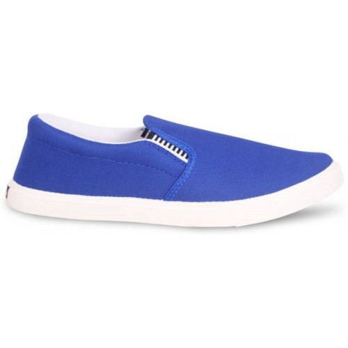 Weldone Navy & White Canvas Casual Shoe