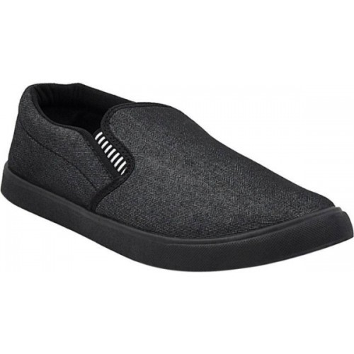 HOTSTYLE Denim Black Canvas Casual Sneakers