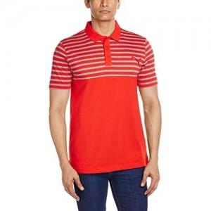 Puma Red Cotton Jersey Men's Polo T-shirt