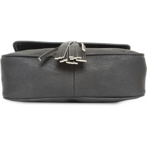 Kanvas Katha Black Polyurethane Sling Bag