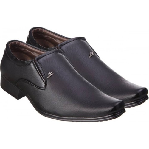 Kraasa Black Patent Leather Formal Shoes