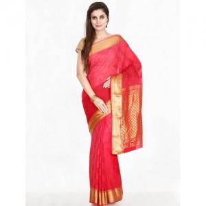 The Chennai Silks Classicate Red Pure Mysore Silk Saree