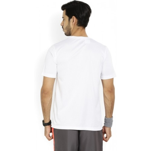 White Solid Polyester Pocket Round