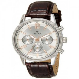 Titan Neo Analog Silver Dial Men's Watch-1734SL01