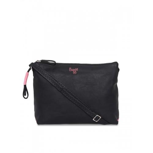 56b518de6 Buy Baggit Black Solid Sling Bag online