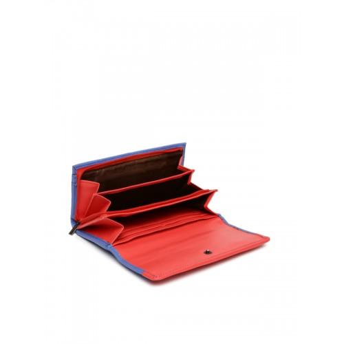 Caprese Zara Women's Wallet (Blue-Dk Pink)