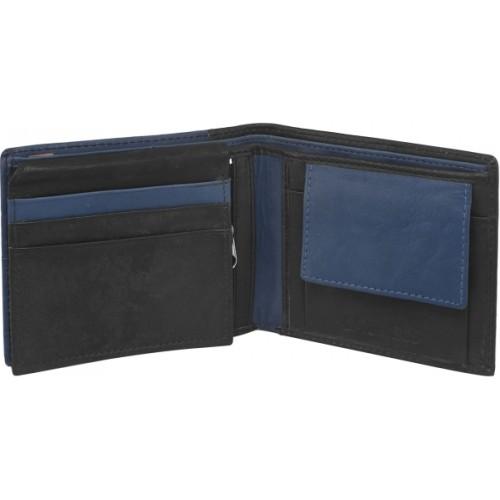 Laurels Men Blue Genuine Leather Wallet