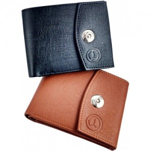 TnW Black & Tan Artificial Leather Wallet