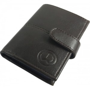TnW Black Artificial Leather Card Holder