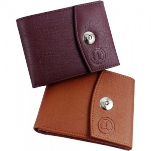TnW Tan & Brown Artificial Leather Wallet