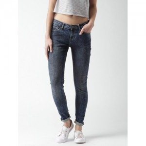 Mast & Harbour Women Blue Skinny Fit Jeans