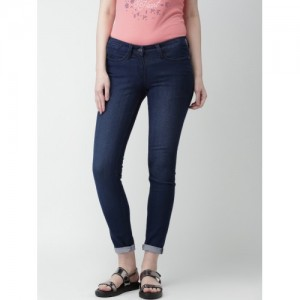 Mast & Harbour Women Blue Skinny Fit Stretchable Jeans