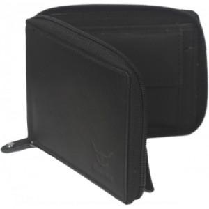 Hidelink Men Black Genuine Leather Wallet