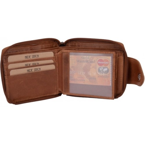 Hidestitch Multicolor Genuine Leather Bi-Fold Wallet