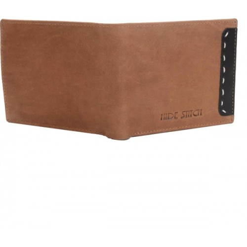 Hidestitch Men Tan Genuine Leather Wallet