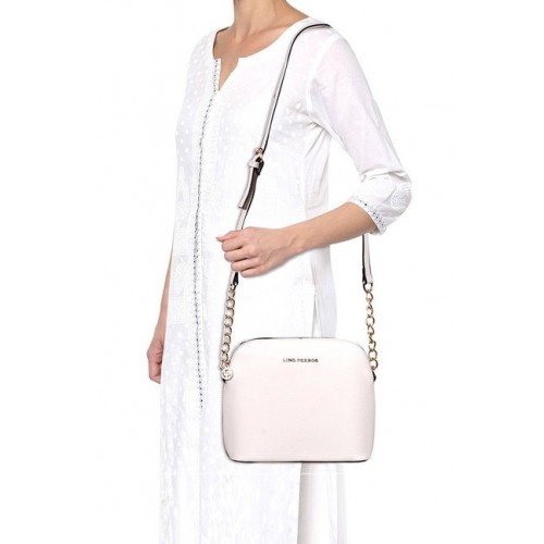 Lino Perros Women's Sling Bag (White)
