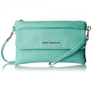 Lino Perros Women's Sling Bag (Turquoise)