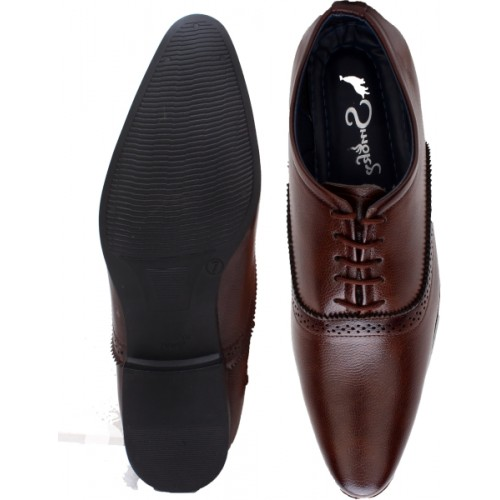 Smoky Wing Tip Party Formal Shoe Lace Up For Men