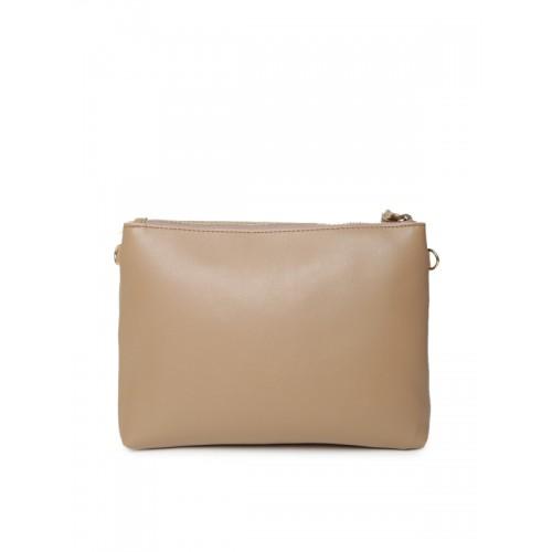 Lisa Haydon for Lino Perros Beige Solid Sling Bag