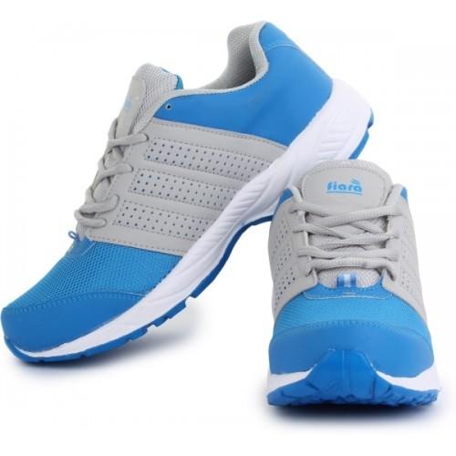 FIARA BOOST-RUN-2 Sky Blue & Gray Mesh Running Shoes