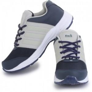 FIARA BOOST-RUN-2 Navy Blue & Gray Mesh Running Shoes
