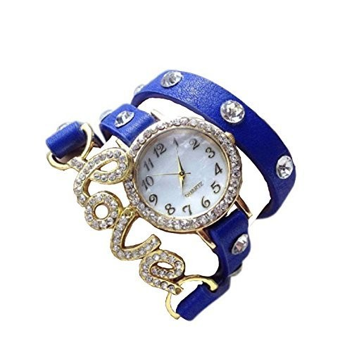Talgo White Dial Women's & Girls Analog Watch (Rr-Lovedori_Blue)