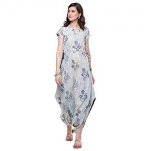 Divena Indigo Hand Block Dhoti Style Cotton Kurta