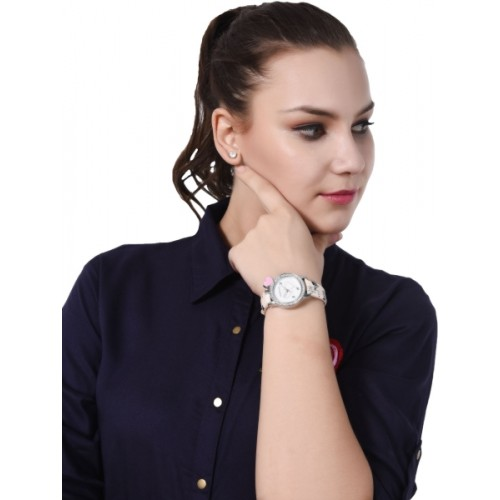 LimeStone Designer Strap White Dial Analog Watch For Women