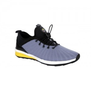 Shoebook Grey & Black Synthetic Leather Sneakers
